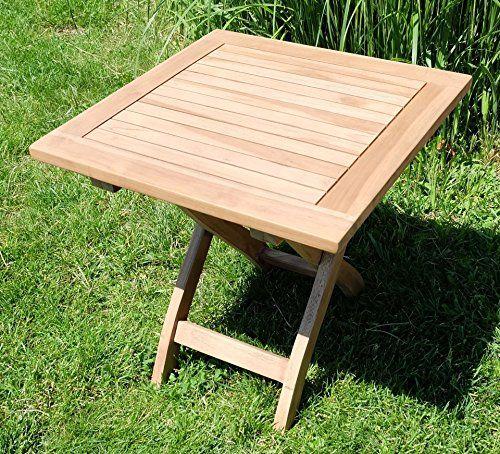 Vintage TEAK Klapptisch Holztisch Gartentisch Garten Tisch Beistelltisch xcm Holz PICNIC von AS S
