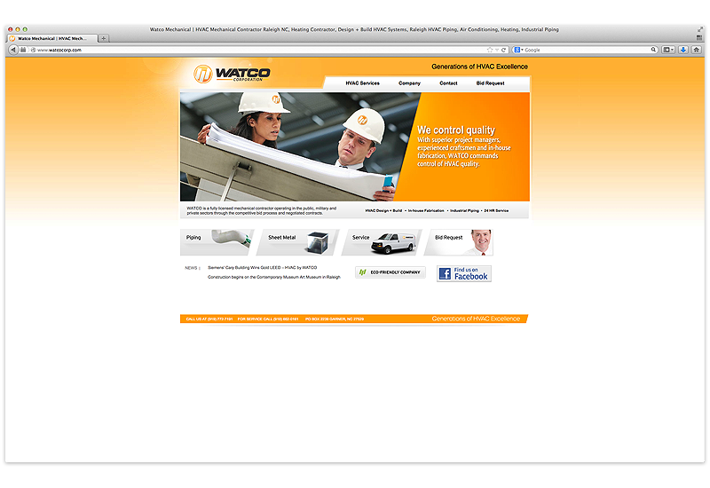 Watco Corporation Fully Licensed Mechanical Contractor Operating In The Public Military And Priva Web Design Website Design Pricing Affordable Website Design