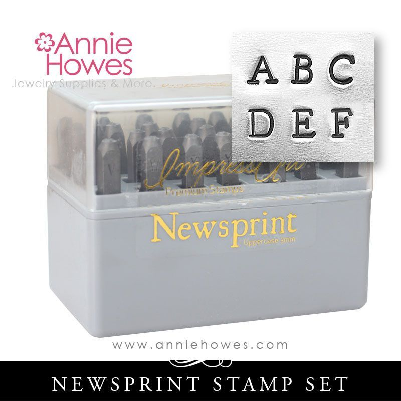 Newsprint Alphabet Metal Stamp Set All Uppercase Letters There Are