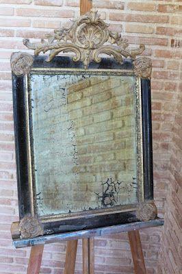 Te gustan los espejos antiguos con la luna velada por el - Restauracion de muebles antiguos paso a paso ...