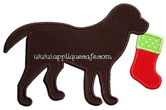 540 Stocking Dog Machine Embroidery by AppliqueCafeDesigns on Etsy