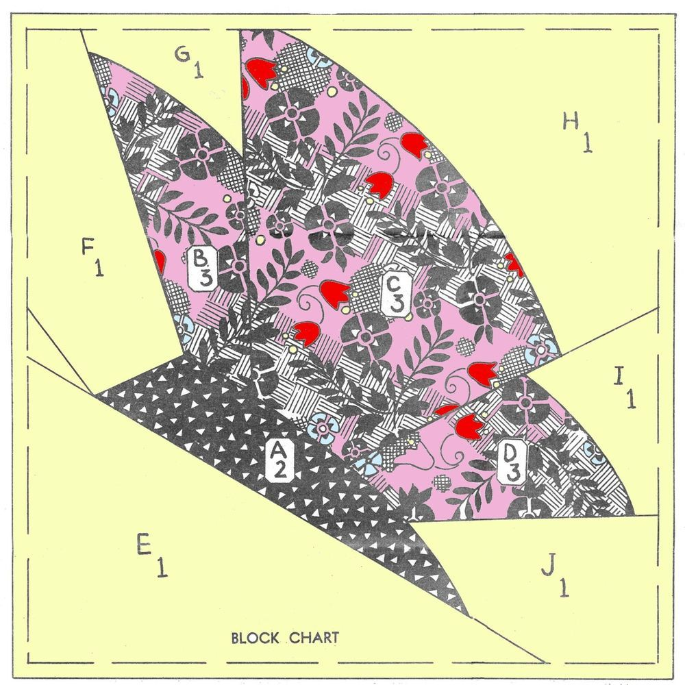 ~ Vintage Butterfly Quilt Block Sewing Pattern ~ Mail order ~ #TimelessPatterns