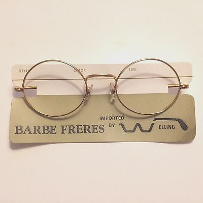 b9b5bf5469e2 Gold-Rim-Eyeglass-Frames -New-Old-Stock-France-Barbe-Freres-Imported-by-Elling