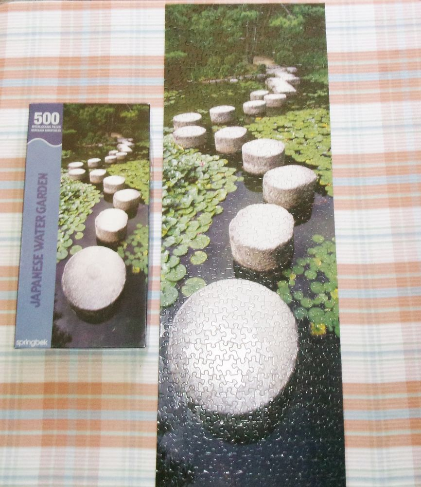 Springbok Japanese Water Garden Jigsaw Puzzle 500 Pieces 12 X 34 Inches Japanese Water Gardens Japanese Water Water Garden