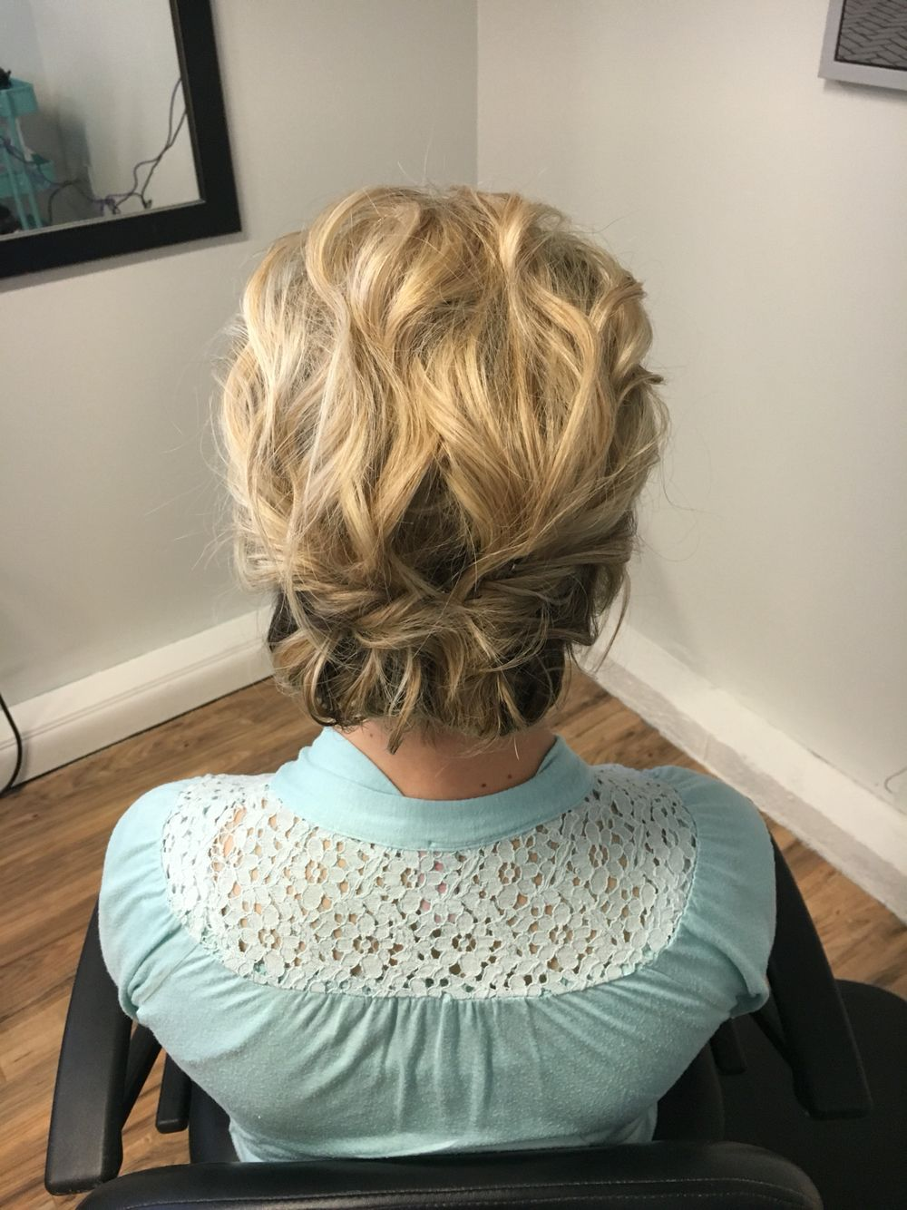Above the shoulder hairstyles, above shoulder updo, wedding hair for short hair, short hair don ...