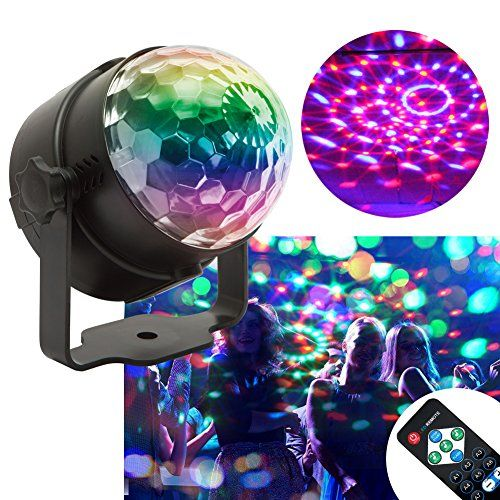 KOOT LED Party Lights, 7 Colors Disco Ball Halloween Strobe Light
