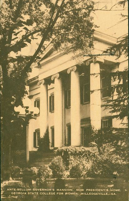 Ante-bellum Governor's Mansion. Now President's Home, Georgia State College for Women, Milledgeville, Ga. - Front Side | Flickr - Photo Sharing!