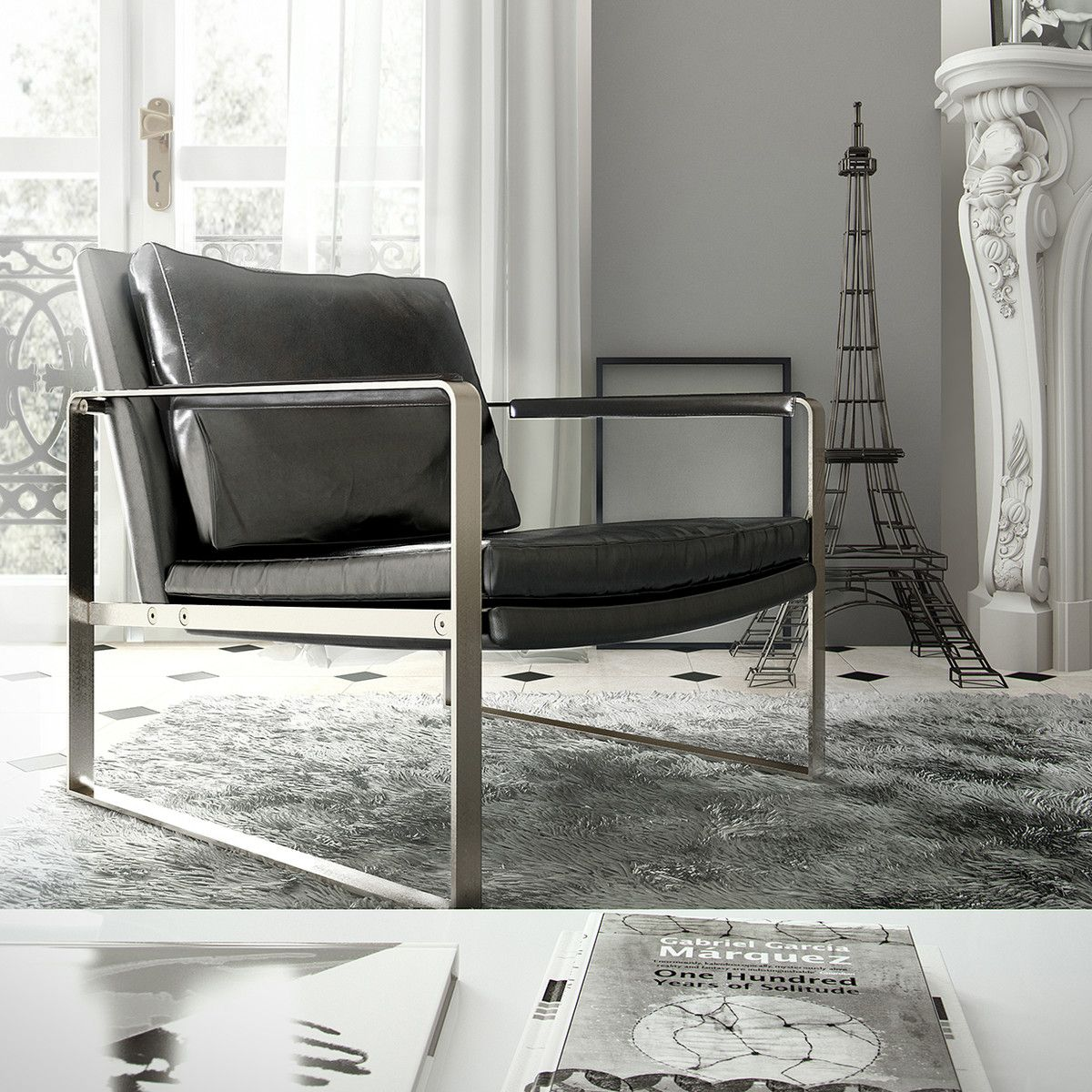 Ballards Armchair Black By Modloft X Fab I Want To Sit Here  # Muebles Vassily