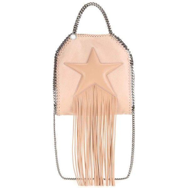Stella McCartney Falabella Mini Embellished Shoulder Bag (3.070 BRL) ❤ liked on Polyvore featuring bags, handbags, shoulder bags, pink, miniature purse, pink purse, stella mccartney purse, stella mccartney and pink shoulder bag