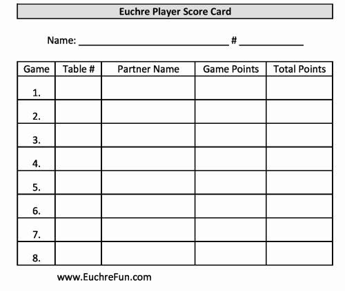 New Euchre Score Cards For  Games  Euchrefun  Euchre