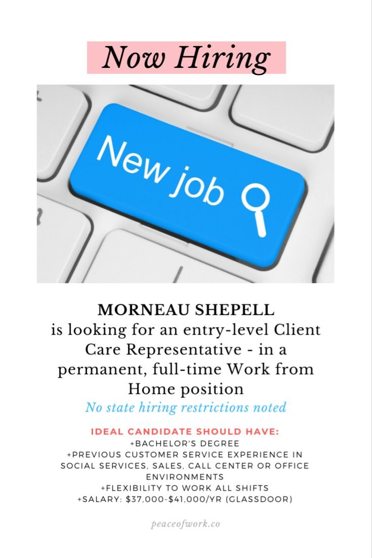 Morneau shepell is looking for an entrylevel client care