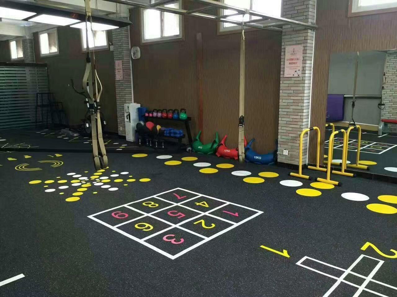 UV printing rubber flooring roll for fitness Tel 0086571
