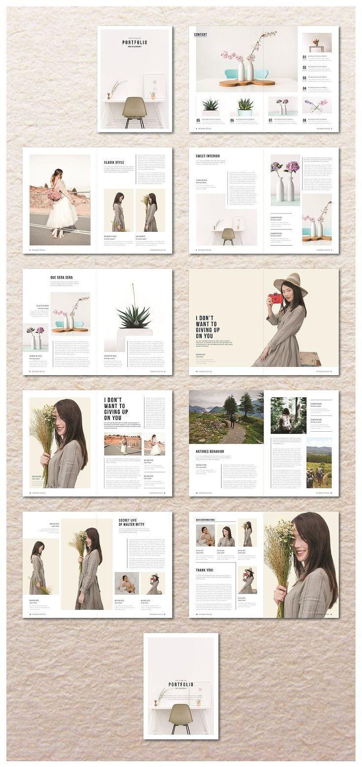 Portfolio Magazine von MA-KING_ART auf Creative Market #designportfolio