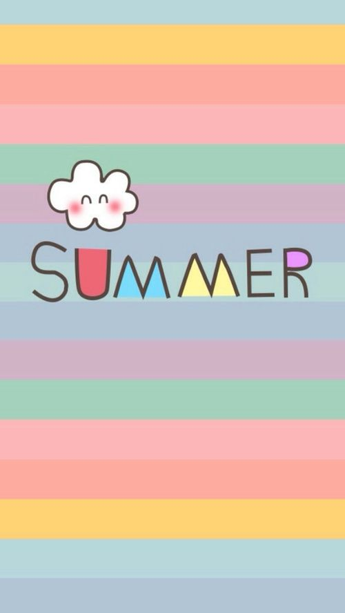 Girls Pink And Love Cute Summer Wallpapers Summer Wallpaper Iphone Wallpaper Pinterest