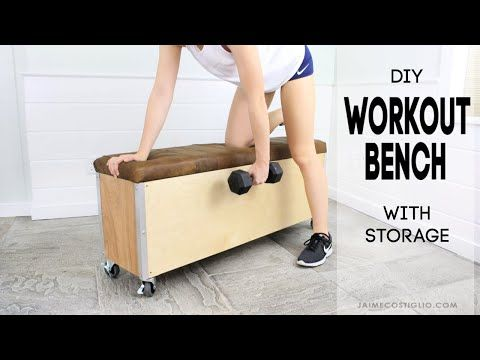 A Diy Tutorial To Build A Workout Bench With Storage Make