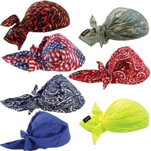 Ergodyne Chill Its 6710ct Evaporative Cooling Triangle Hats With