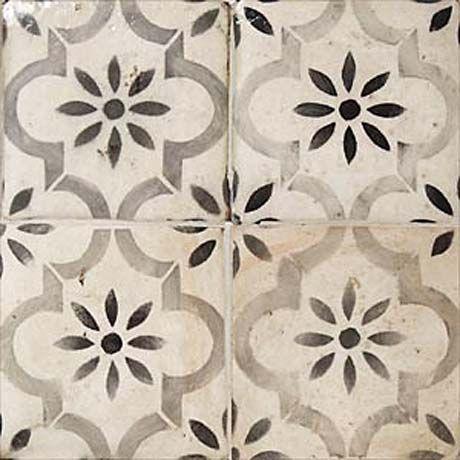 Vintage Sol Floor Peindre Des Carreaux Carreaux Ciment Et
