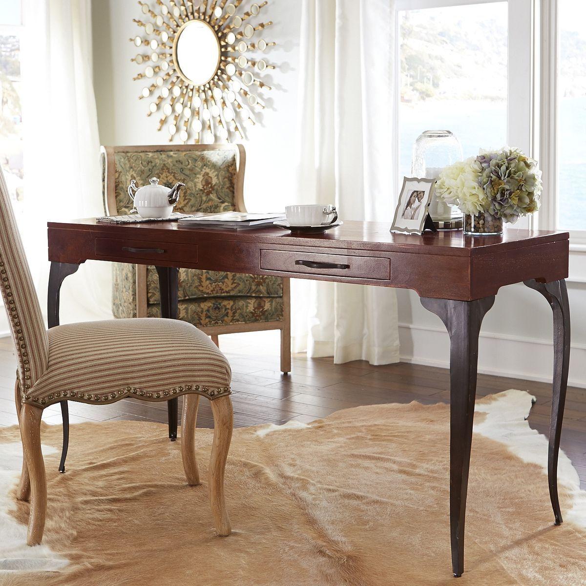 donovan desk ashok brown pier 1 imports office ideas desk rh pinterest com