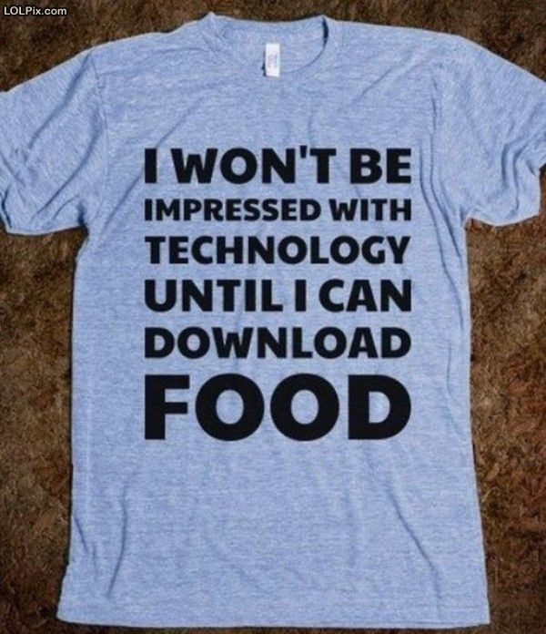 What type of food item would you like to download? #humor