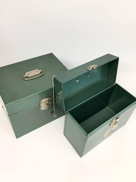 Set Porta File Bo Office Storage Vintage Supplies