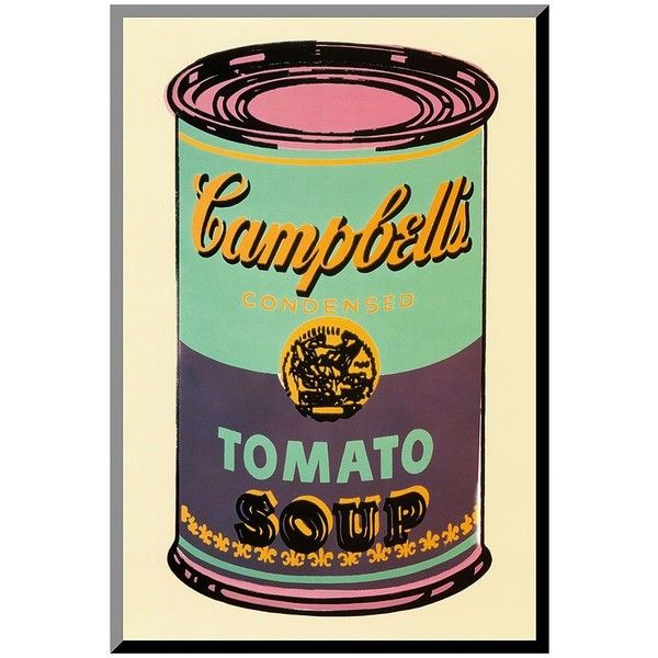 Art.com ''Campbell's Soup Can'' Wood Wall Art by Andy Warhol (White) (165 BRL) ❤ liked on Polyvore featuring home, home decor, wall art, white, wood wall art, pop art, wooden home decor, white home accessories and white home decor