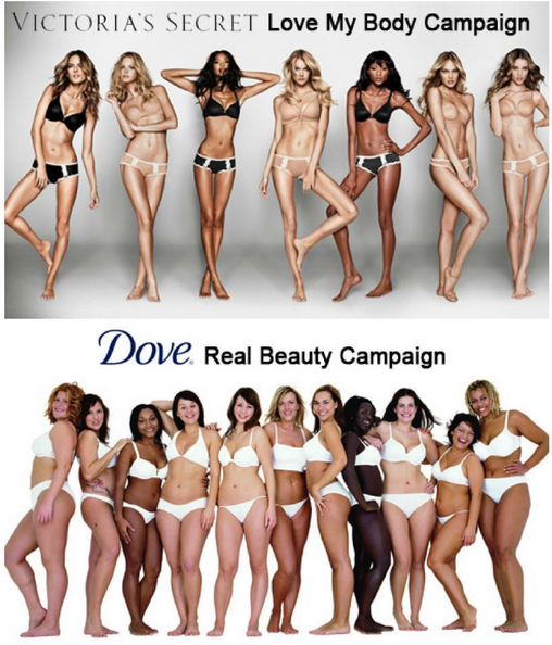 Next to the real women- the models look sick.