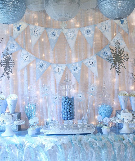 items similar to snow fairy winter wonderland party decorations banner cupcake toppers and more blue fairy collection gwynn wasson designs printables