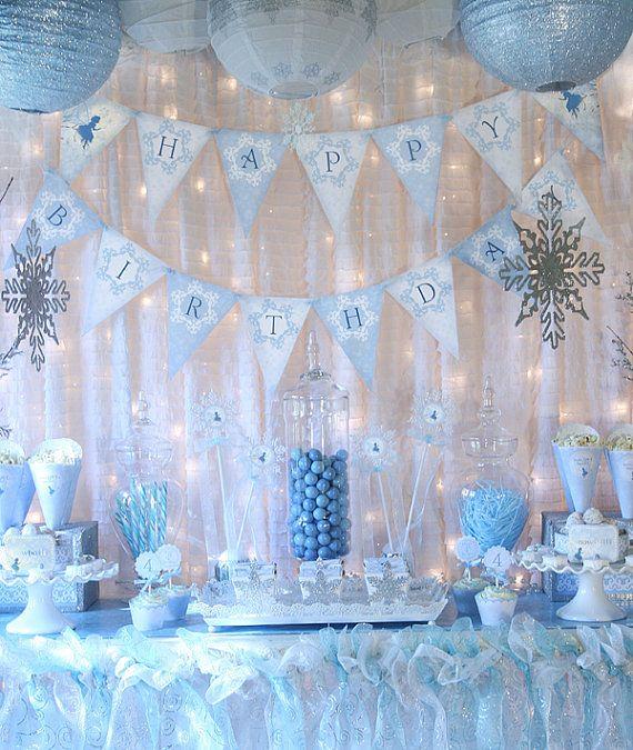 Snow Fairy Winter Wonderland Party Decorations Banner Cupcake