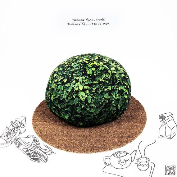 Topiary ball beanbag chair - ficus medium on Etsy, ¥13,404.26