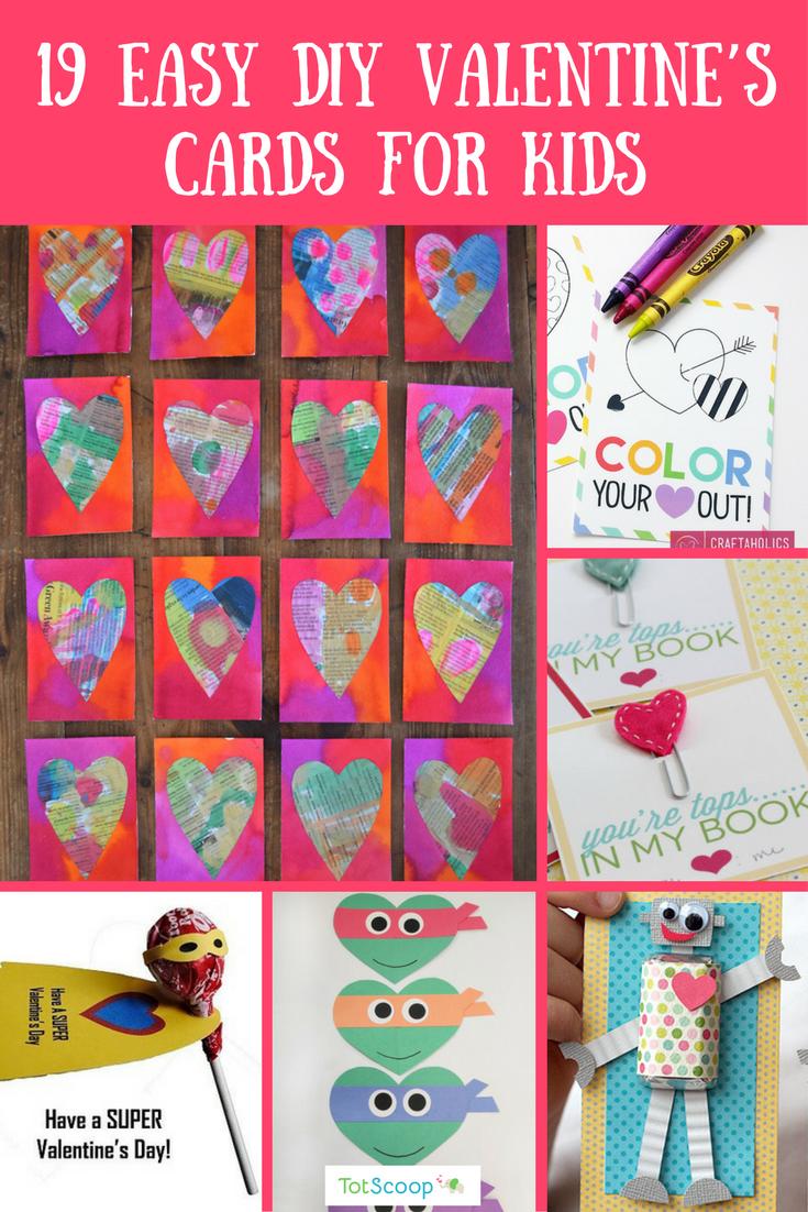 19 Easy DIY Valentine's Cards for Kids | Homemade ...