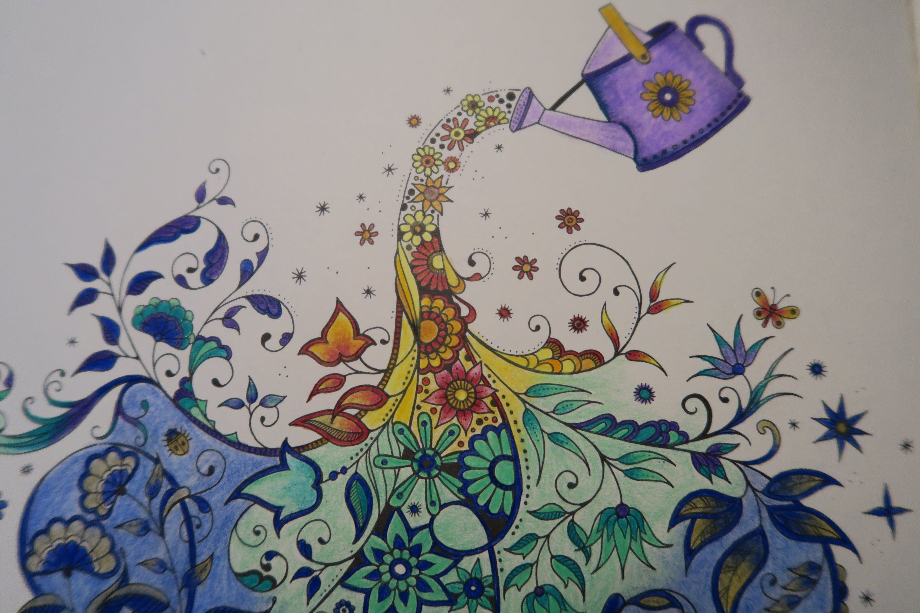 In This Video We Color A Page From Secret Garden An Inky Treasure Hunt And Coloring Book By Johanna Basford Adult Has 42 Single