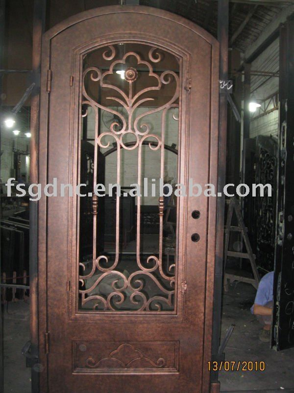 Interior puerta de hierro forjado buy product on alibaba for Puertas de metal para casa