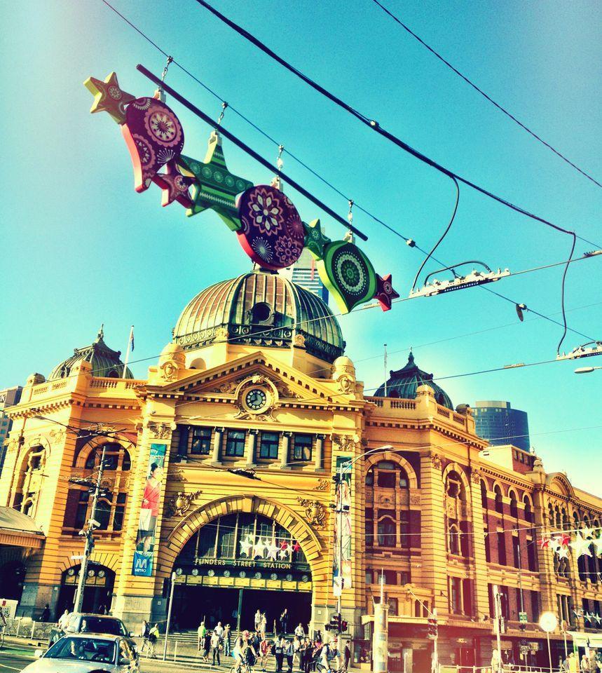 À voir: la Flinders Street Station.