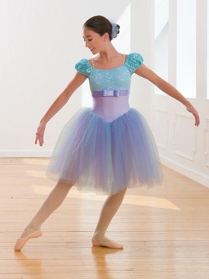 Women Adult Ballet Dress Tutu Leotard Dance Dress Stage Skirt Dancewear Costume