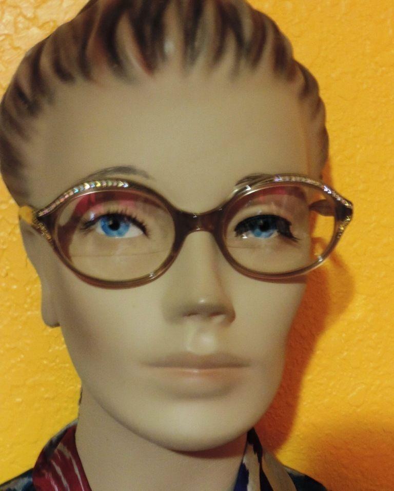 87f05f5b17 Vtg Eyeglasses L Evrard Frame France TWE 50 20 Rhinestone Glasses 50s 60s   LEvrard  Oval