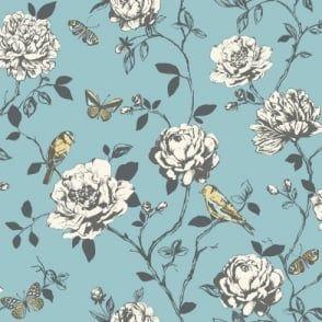 Rasch Amour Flower Bird Butterfly Floral Pattern Silver Glitter Wallpaper 204339 Silver Glitter Wallpaper Glitter Wallpaper Victorian Wallpaper