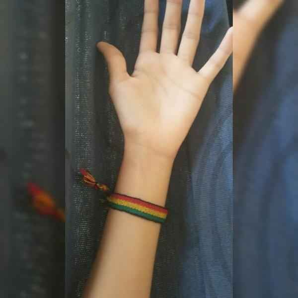 Your bracelets always slide all the way up your arm.