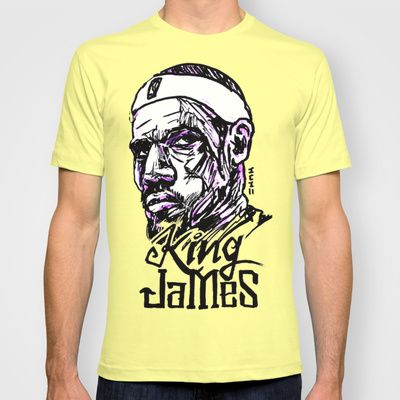 c902d5bfaed8 Lebron King James NBA Street Art T-shirt by sketchnkustom -  22.00 ...