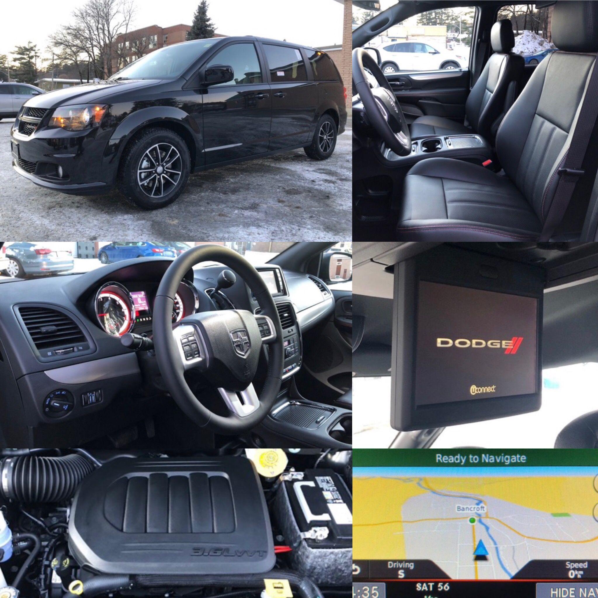 2019 'Brilliant Black Crystal' Dodge Grand Caravan GT. NAV