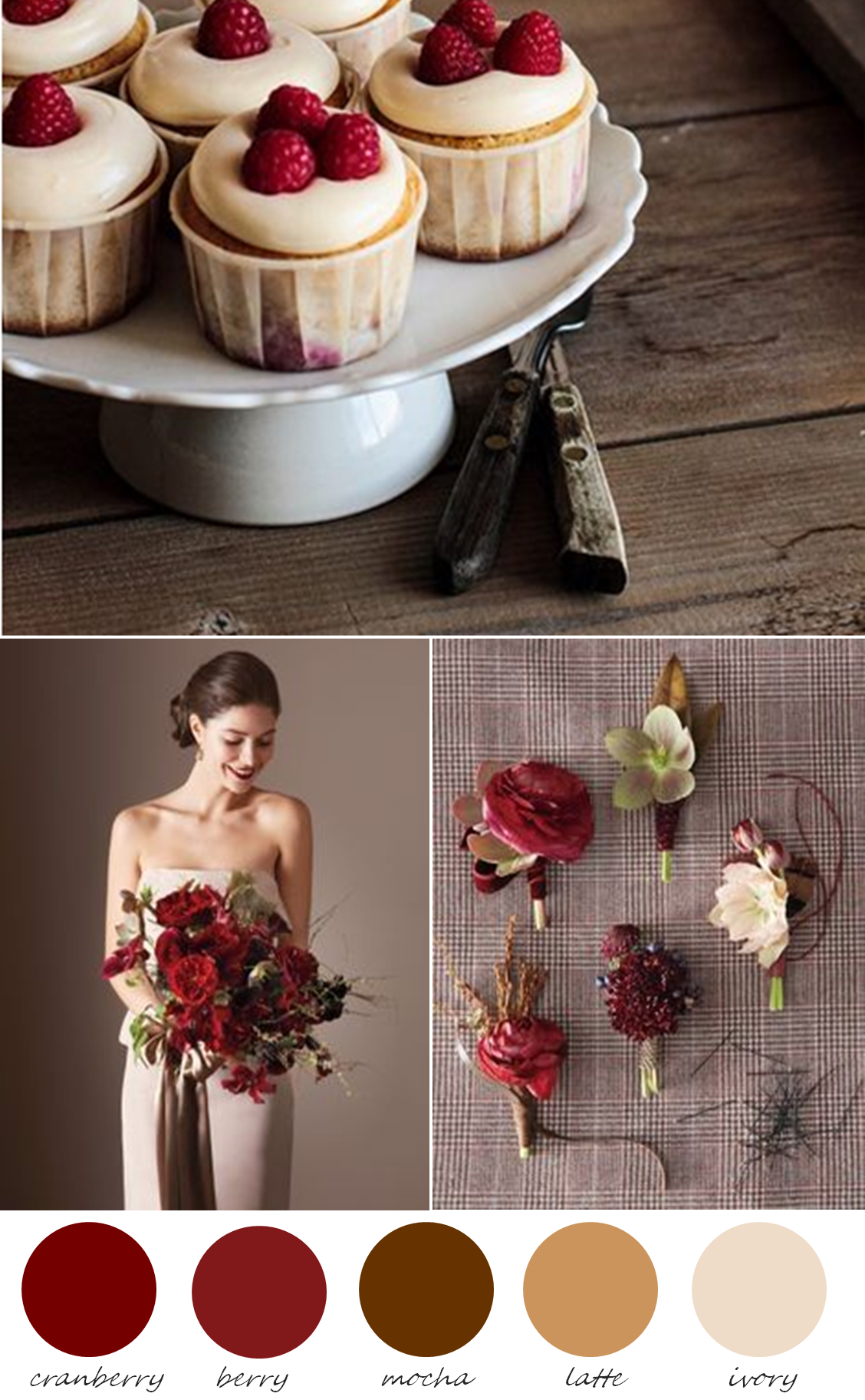 Cranberry champagne wedding - Color Me Inspired