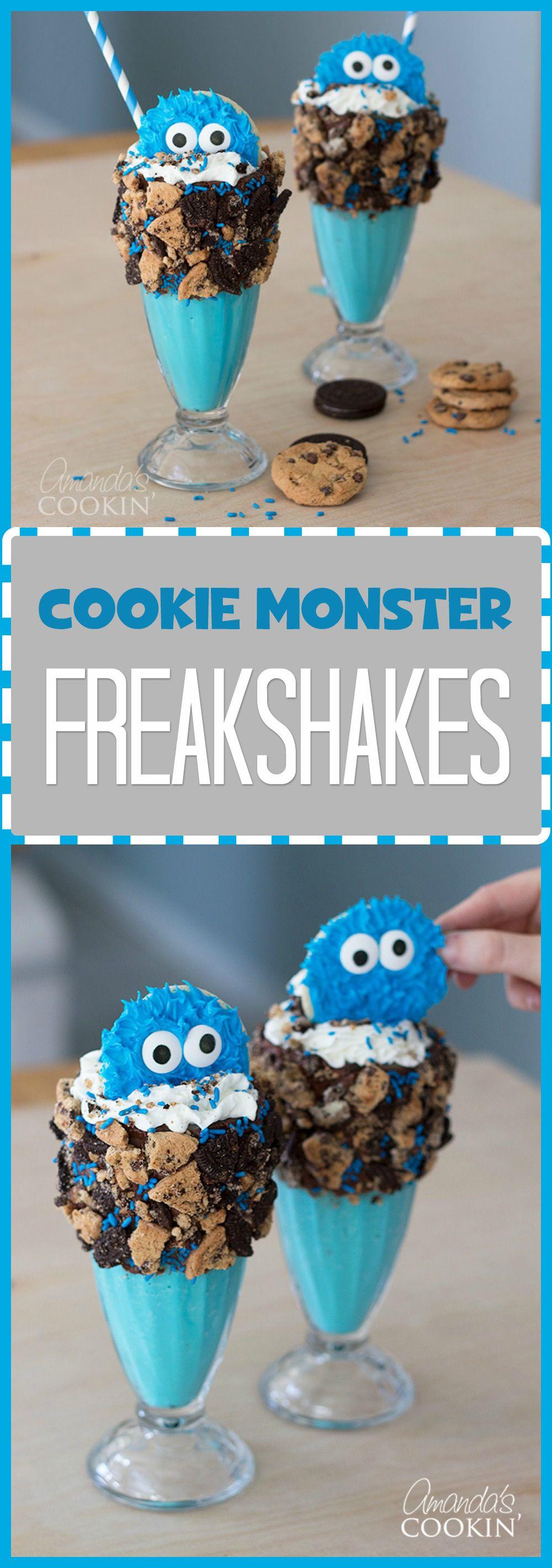 Cookie Monster Freak Shakes: an adorably extreme milkshake!