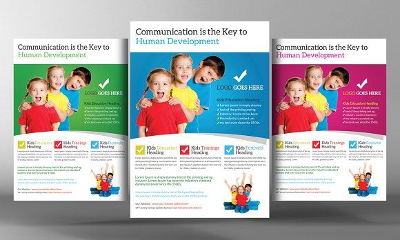 School Education Flyer Template By Business Templates On