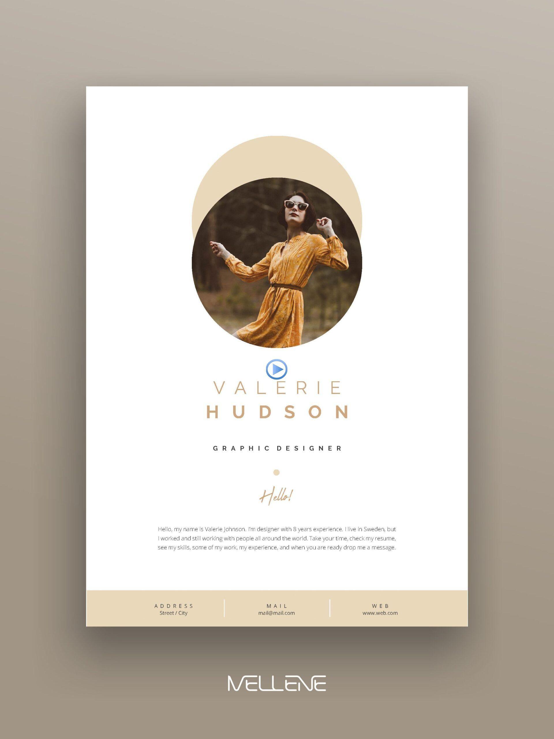Cv Resume Template For Ms Word Professional Cover Letter Self Presentation Portfolio Desi Graphic Design Layouts Cv Design Portfolio Design