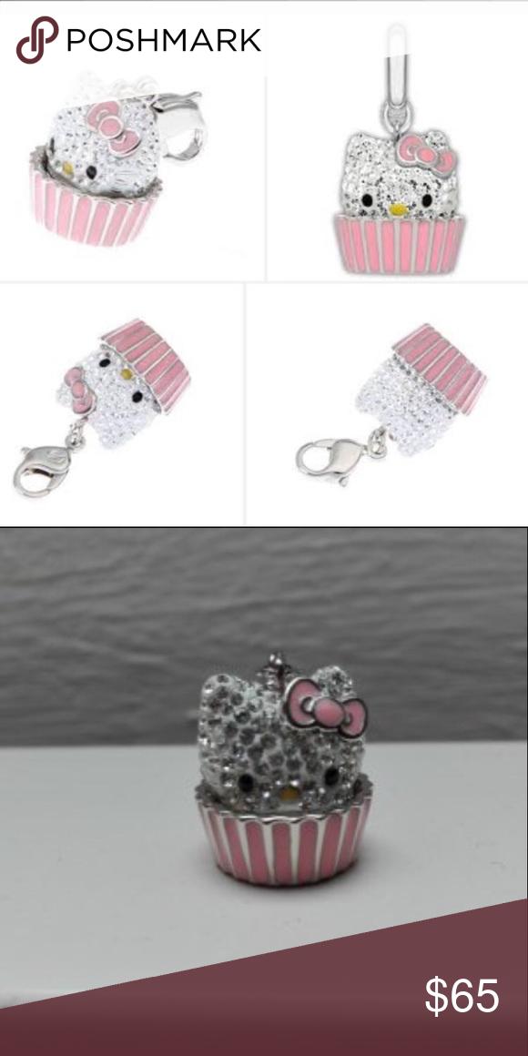 Swarovski Hello Kitty Cupcake Charm, Swarovski Hello Kitty Charm