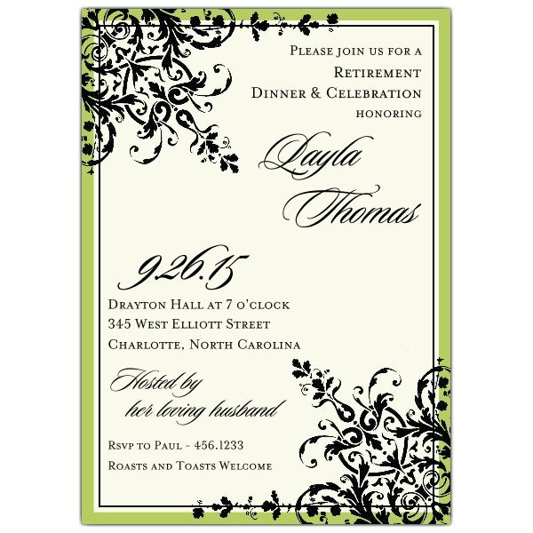 Retirement Party Invitations Templates  Sku R