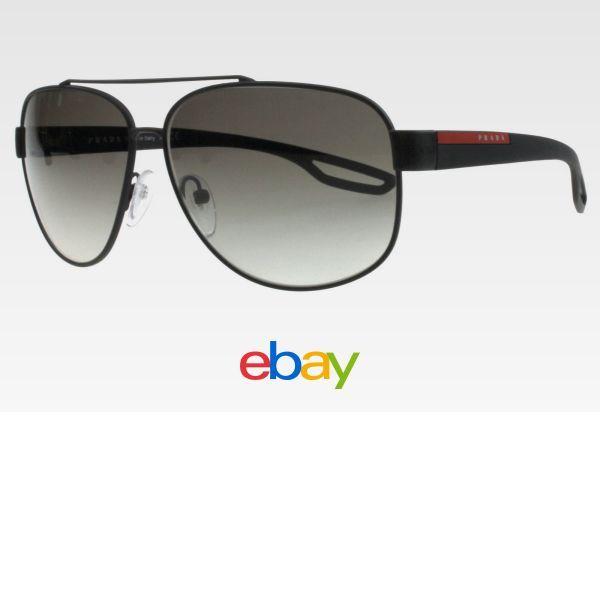 Prada Sunglasses Men Sps 58Q Black Dgo 0A7 Lj Silver 63Mm