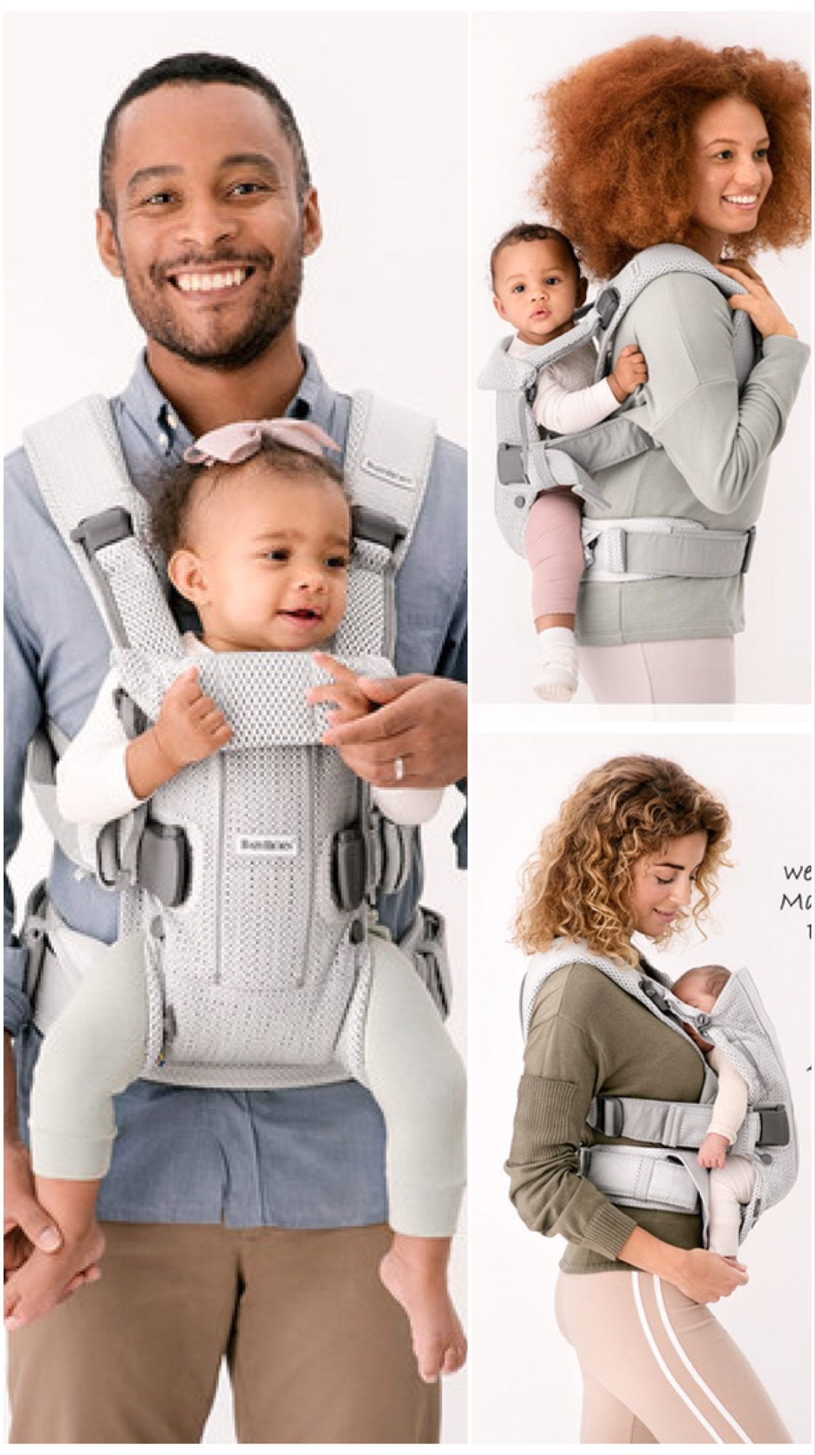 BabyBjörn Babytrage e Air Mesh Neue Version Silber Kollektion