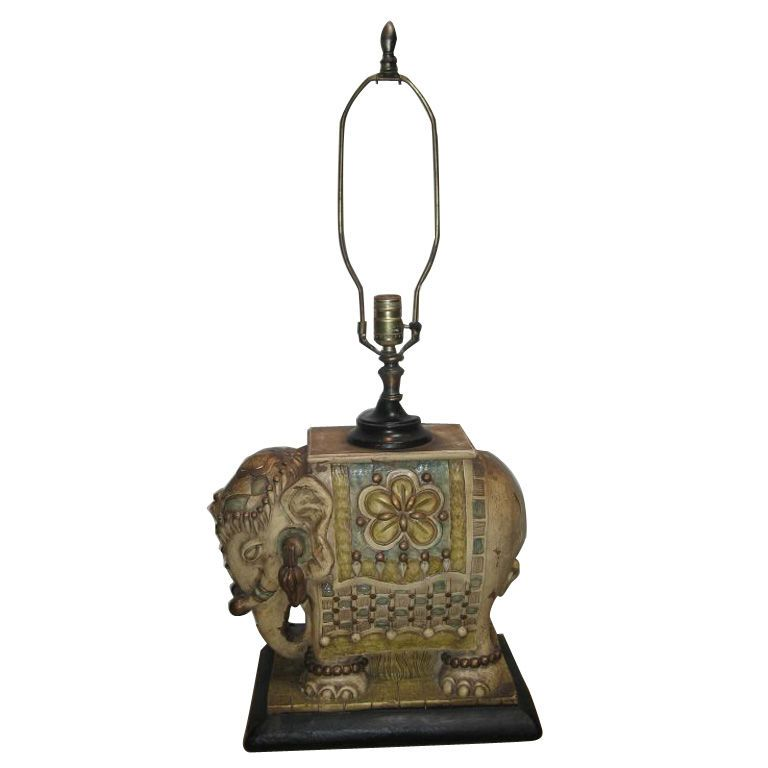 Indian Elephant Table Lamp