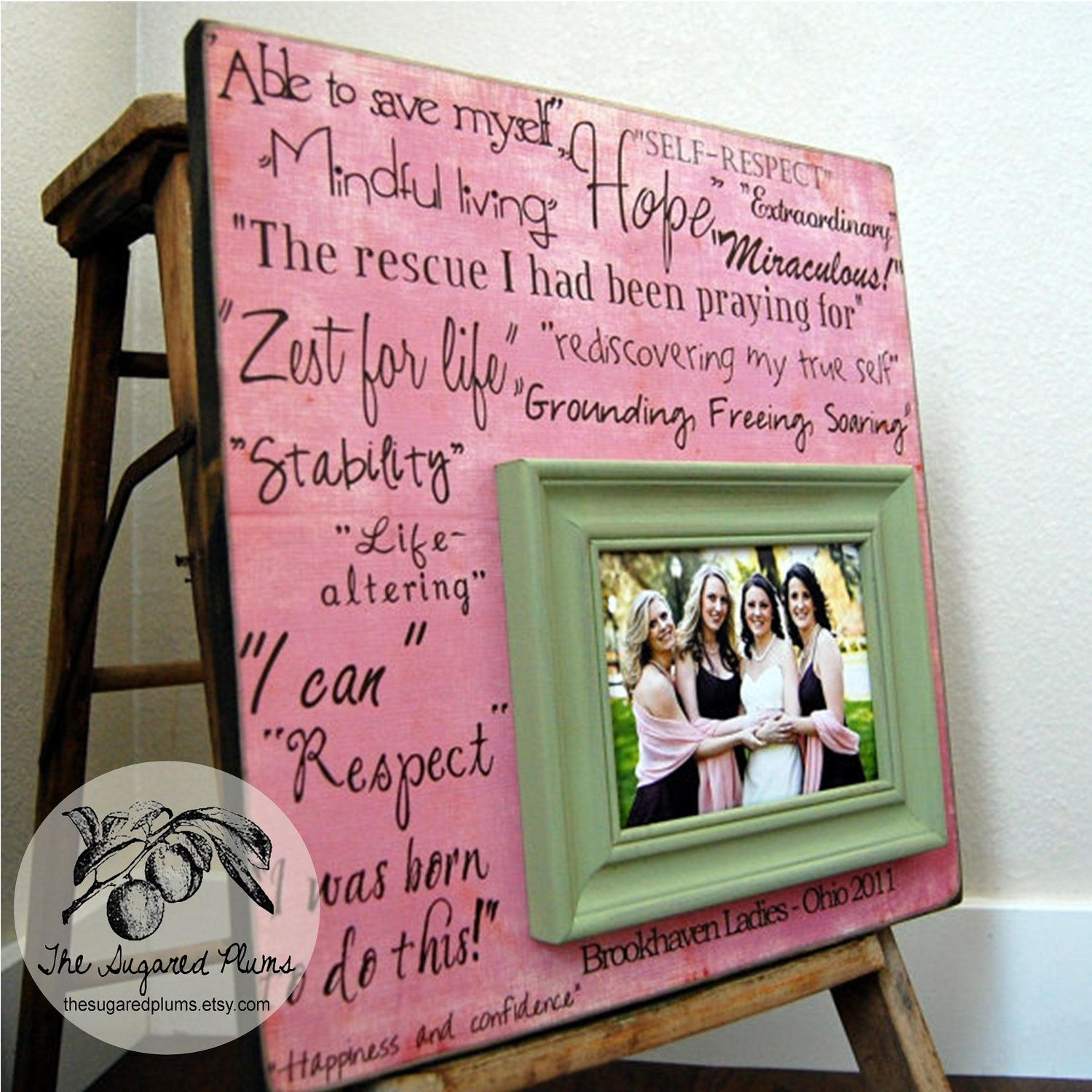 Sister Gift For Sister Personalized Picture Frame Custom Wedding ...