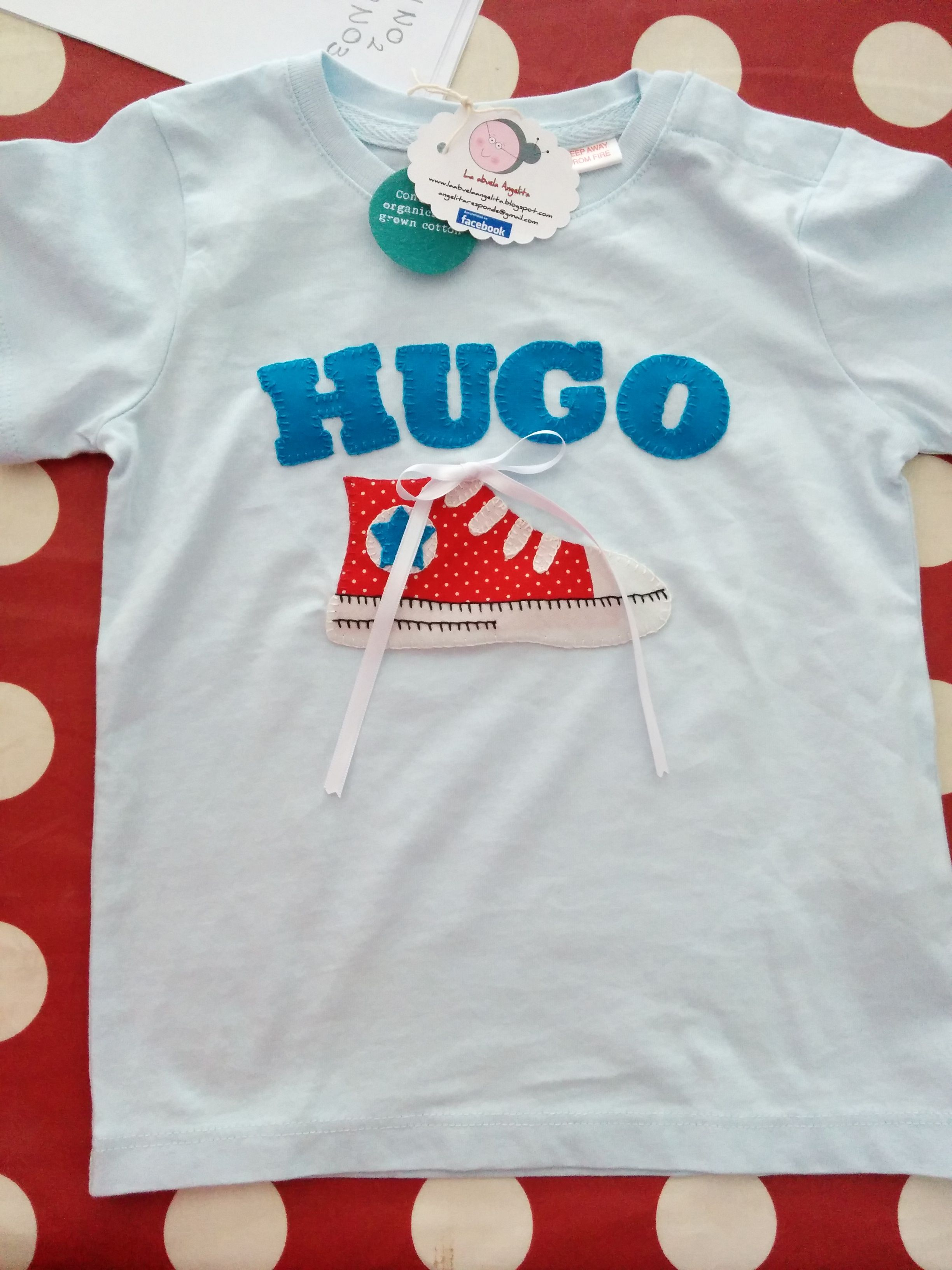 Camiseta personalizada niño zapatilla bota patchwork converse